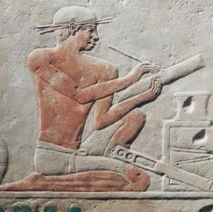 Two scribes, relief from Mastaba of Akheteps at Saqqara