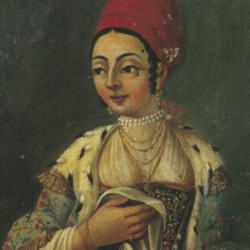 A Greek Lady of Constantinople, Early 18th century, Oil painting attributed to Jean Baptiste van Mour (1671–1737)